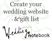Create a personal wedding website and gift list